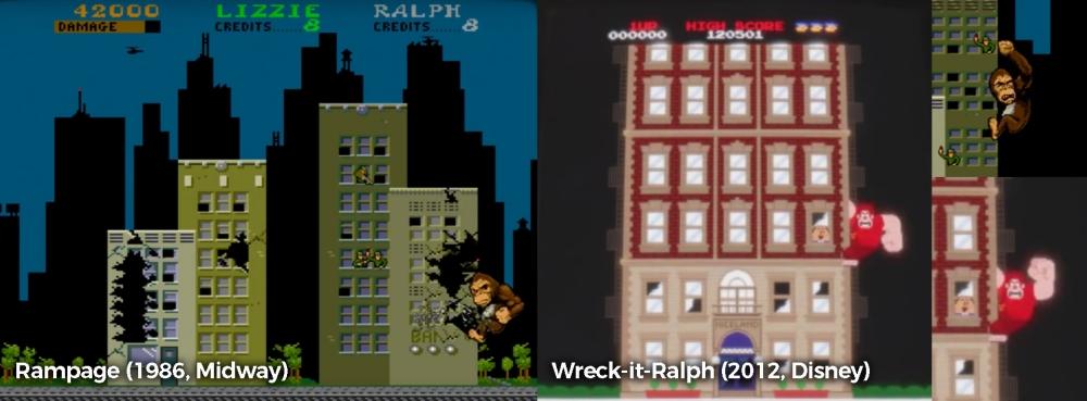 rampage wreck it ralph comparison copy