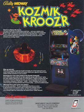 Kozmik_kroozr_arcade_flyer
