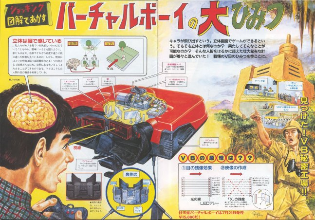 Magazine Illustration about the Virtual Boy