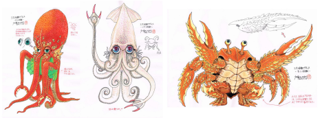 Kato's concept art from Monster Seafood Wars